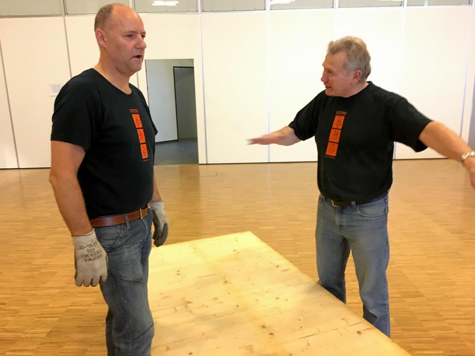 Toni Betschart und Toni Hess in Aktion