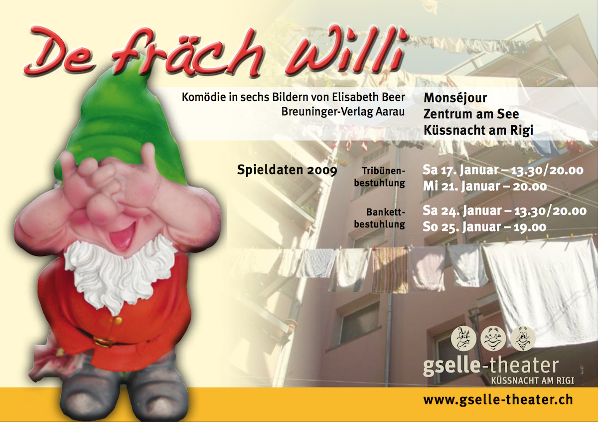 De Fräch Willi 2009 - Flyer