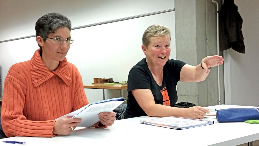 Pia Zala (Souffleusin) & Sonja Hoffmann (Regie)