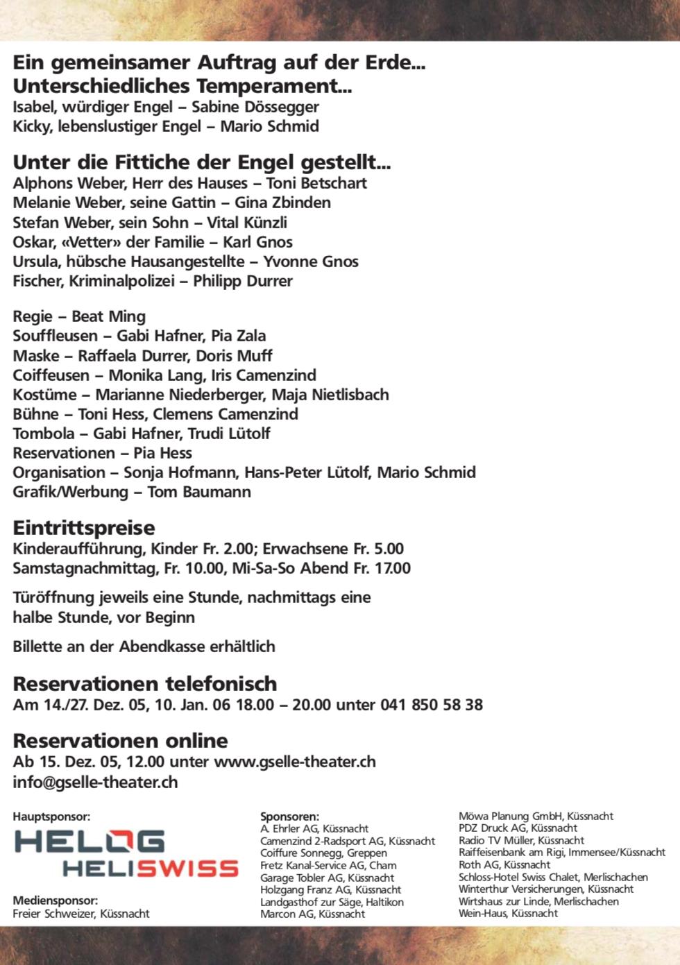 Himmlischi Schlingel 2006 - Programm
